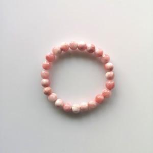 Guličkový náramok - jadeit ružový