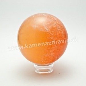 Guľa - selenit oranžový