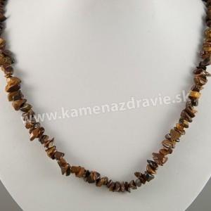 Tigrie oko - sekaný náhrdelník