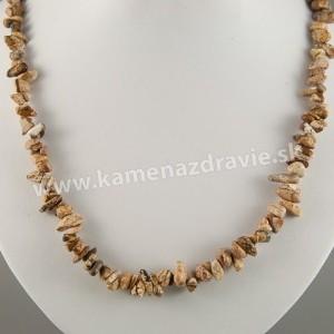 Jaspis obrázkový - sekaný náhrdelník