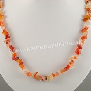 Karneol - sekaný náhrdelník