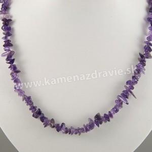 Ametyst - sekaný náhrdelník