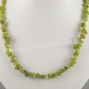 Olivín - sekaný náhrdelník