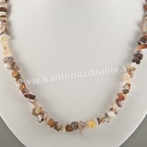 Achát - sekaný náhrdelník