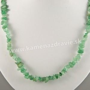 Avanturín zelený - sekaný náhrdelník