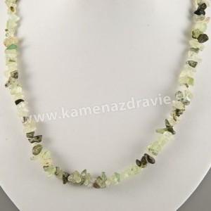 Prehnit - sekaný náhrdelník
