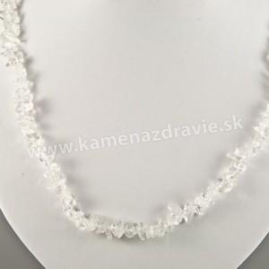 Krištáľ - sekaný náhrdelník