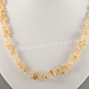 Citrín - sekaný náhrdelník