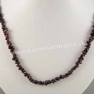 Granát - sekaný náhrdelník