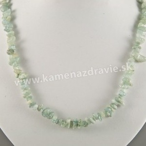 Akvamarín - sekaný náhrdelník