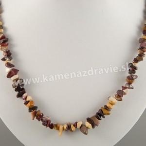 Jaspis mookait - sekaný náhrdelník