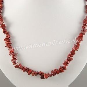 Jaspis červený - sekaný náhrdelník