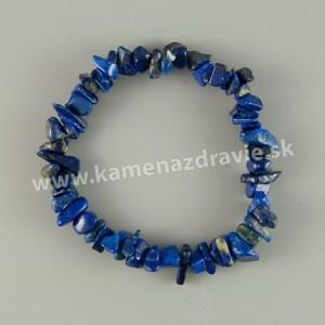 Lapis lazuli - sekaný náramok gumičkový exQ.