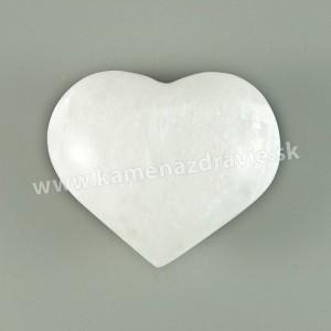 Srdce veľké - selenit biely