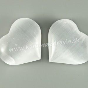 Srdce - selenit biely