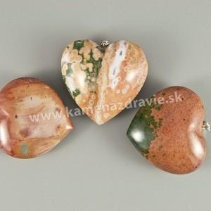 Jaspis imperial - srdce - prívesok - veľké
