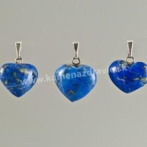 Lapis lazuli srdce - prívesok -cca 25 mm