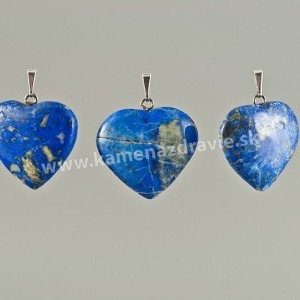 Lapis lazuli srdce - prívesok -   cca 20 mm