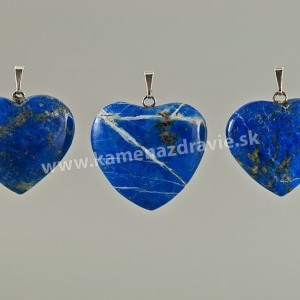 Lapis lazuli srdce - prívesok - cca 30 mm