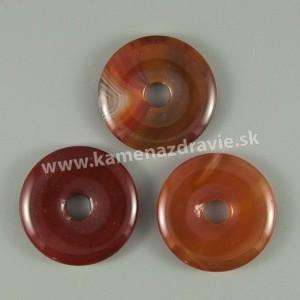 Donut krúžok - karneol