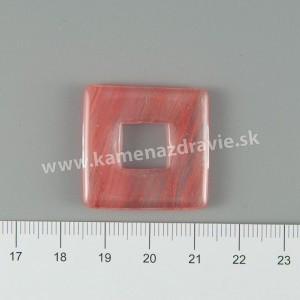 Donut štvorec malý - obsidián ružový