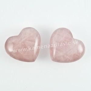 Srdce chňapka 4cm - ruženín