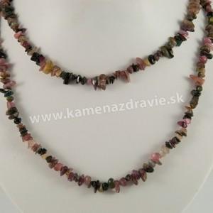 Turmalín sekaný náhrdelník - dlhý