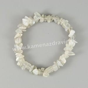Mesačný kameň - sekaný náramok gumičkový