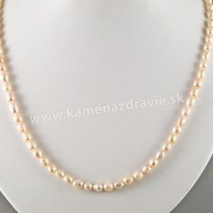 Náhrdelník - riečne perly ružové