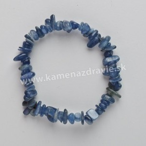 Distén (kyanit) - sekaný náramok gumičkový
