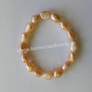 Náramok - riečne perly ružový