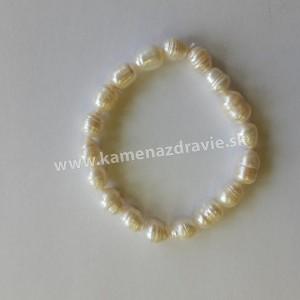 Náramok - riečne perly biele