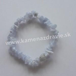 Chalcedón - sekaný náramok gumičkový