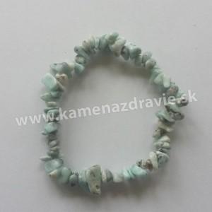 Larimar - sekaný náramok gumičkový