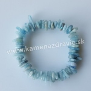 Náramok - disky - akvamarín