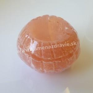 Svietnik - selenit - mini oranžový