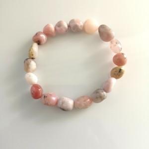 Náramok - nugety - opál ružový