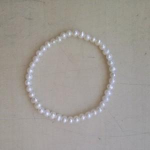 Náramok - riečne perly biele guličky