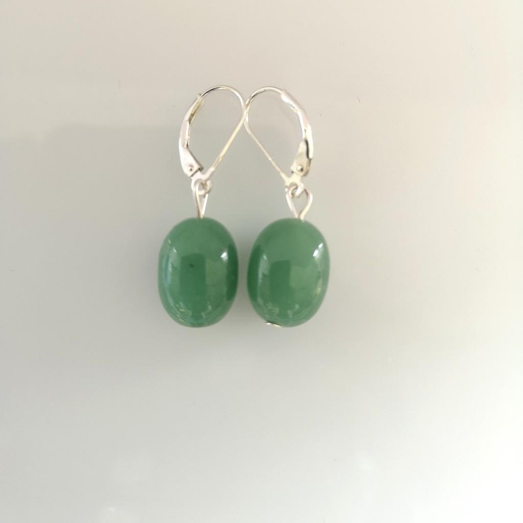 Náušnice - avanturín zelený