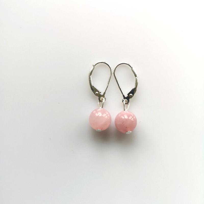 Náušnice guličkové - ruženín