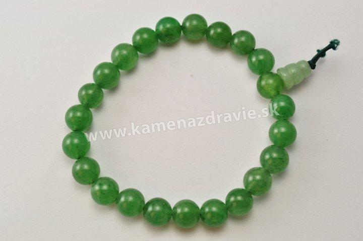 Energetický náramok - Avanturín zelený
