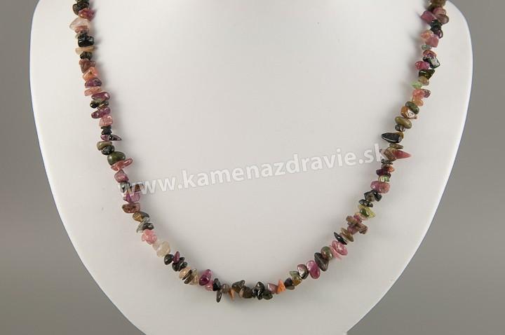 Turmalín - sekaný náhrdelník