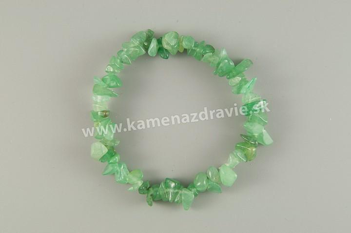 Avanturín zelený - sekaný náramok gumičkový