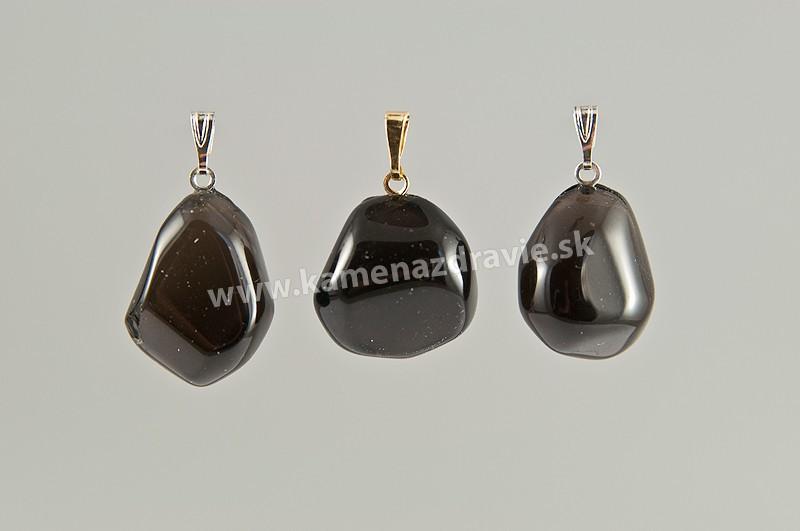 Obsidián (apačské slzy) - prívesok - M