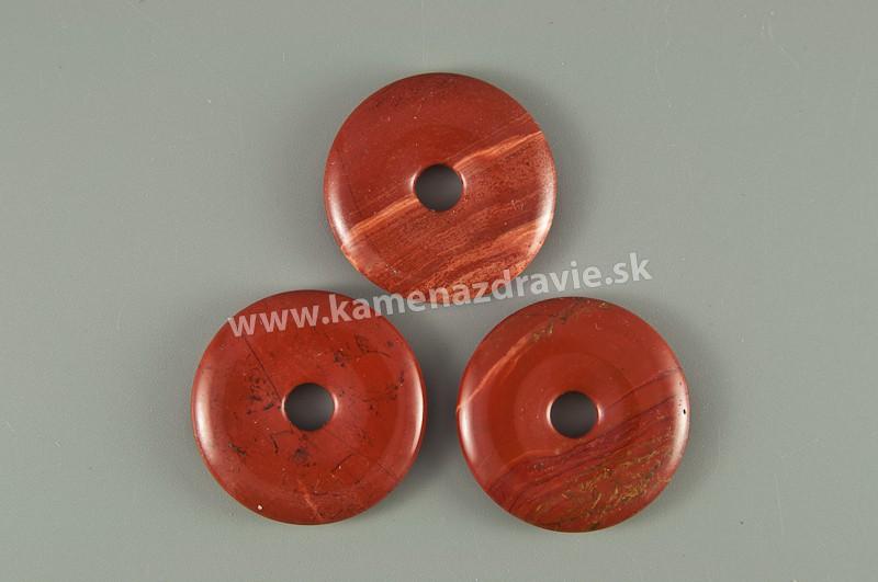 Donut krúžok - jaspis červený