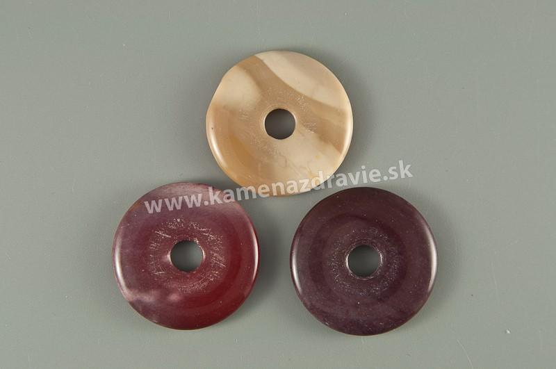 Donut krúžok - jaspis mookait