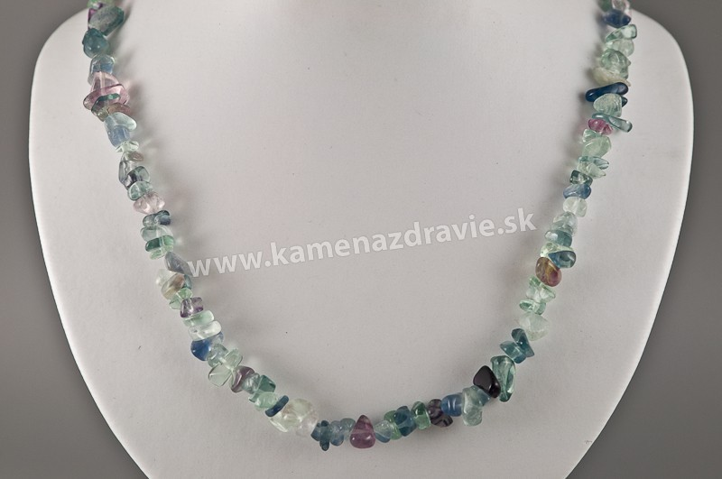 Fluorit - sekaný náhrdelník
