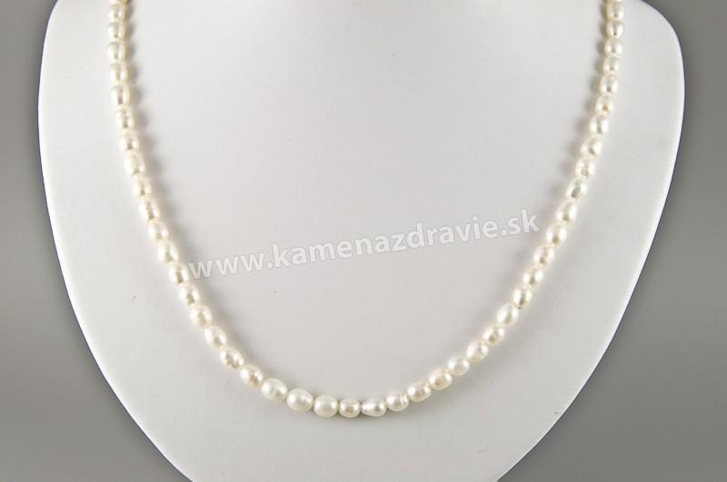 Náhrdelník - riečne perly biele