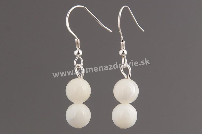 Náušnice guličkové - perleť