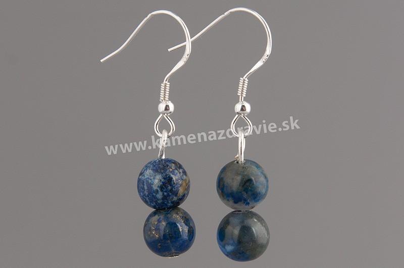Náušnice guličkové - lapis lazuli